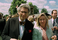 EARL & COUNTESS OF GOWRIE at a polo match in Cirencester on 6th July 1997.<br /> MAA 12