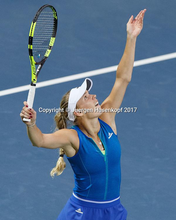 CAROLINE WOZNIACKI (DEN)<br /> <br /> Tennis - Dubai Tennis Championships 2017 -  WTA -  Dubai Duty Free Tennis Stadium - Dubai  -  - United Arab Emirates  - 25 February 2017.