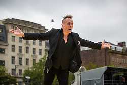© Licensed to London News Pictures . 29/06/2017 . Manchester , UK . John Robb . What is the City But the People launch event , by artist Jeremy Deller , featuring a catwalk across the length of Piccadilly Gardens . Photo credit : Joel Goodman/LNP