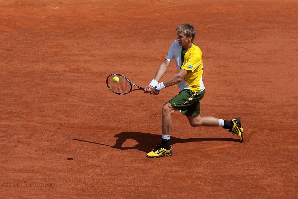 Roland Garros 2011. Paris, France. 22 Mai 2011..Finnish player Jarkko NIEMINEN against David FERRER..