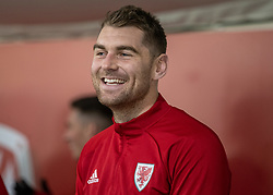 CARDIFF, WALES - Monday, November 18, 2019: Wales' Sam Vokes during a training session at the Vale Resort ahead of the final UEFA Euro 2020 Qualifying Group E match against Hungary. (Pic by David Rawcliffe/Propaganda)