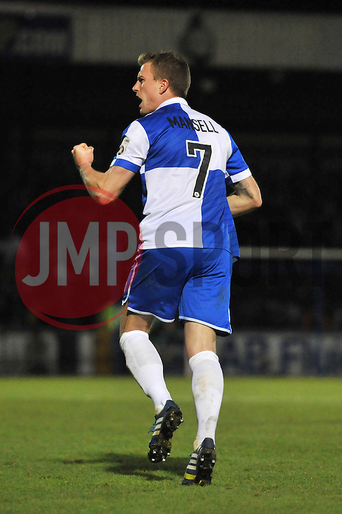 Bristol Rovers' Lee Mansell celebrates his goal. - Photo mandatory by-line: Dougie Allward/JMP - Mobile: 07966 386802 - 19/12/2014 - SPORT - football - Bristol - Memorial Stadium - Bristol Rovers v Gateshead  - Vanarama Conference