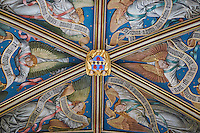 France, Cher (18), Bourges, palais Jacques-Coeur, la le plafond de la chapelle // France, Cher (18), Bourges, Jaques Coeur Palace, the ceiling of the chapel