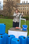 Harriet Harman MP. Marking World Water Day, over 40 MP's walked for water at Westminster, London at an event organised by WaterAid and Tearfund. Globally hundreds of thousands of people took part in the campaign to raise awareness of the world water crisis.