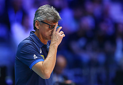 September 30, 2018 - Turin, Italy - Poland v Brazil - FIVP Men's World Championship Final.Coach of Brazil Renan Dal Zotto at Pala Alpitour in Turin, Italy on September 30, 2018. (Credit Image: © Matteo Ciambelli/NurPhoto/ZUMA Press)