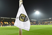 Corner flag during the The FA Cup match between Notts County and Bristol Rovers at Meadow Lane, Nottingham, England on 3 November 2017. Photo by Jon Hobley.