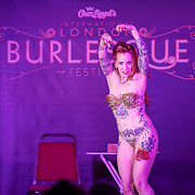 London,England,UK. 22th May 2017. Oh! Carolina *Bristol, UK preforms at the London Burlesque Festival 2017 - Tattoo Revue at Moth Club, Hackney,London,UK. by See Li
