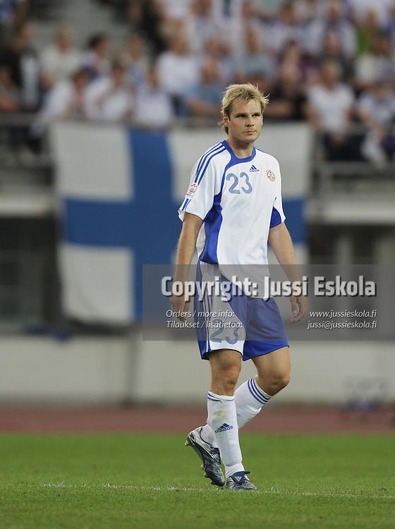 Markus Heikkinen. Suomi ? Belgia, EM-karsinta, Helsinki, Olympiastadion 6.6.2007. Photo: Jussi Eskola