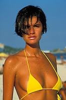 Beautiful woman on Ipanema Beach, Rio de Janiero - photograph by Owen Franken
