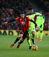 Football - 2016 / 2017 Premier League - AFC Bournemouth vs. Liverpool<br /> <br /> Bournemouth's Adam Smith rides a challenge from Emre Can of Liverpool at Dean Court (The Vitality Stadium) Bournemouth<br /> <br /> COLORSPORT/SHAUN BOGGUST