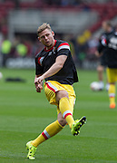 Simon Church(Milton Keynes Dons) warms up before the Sky Bet Championship match between Middlesbrough and Milton Keynes Dons at the Riverside Stadium, Middlesbrough, England on 12 September 2015. Photo by George Ledger.