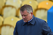 Northampton Town manager Chris Wilder during the Sky Bet League 2 match between Mansfield Town and Northampton Town at the One Call Stadium, Mansfield, England on 28 March 2016. Photo by Jon Hobley.