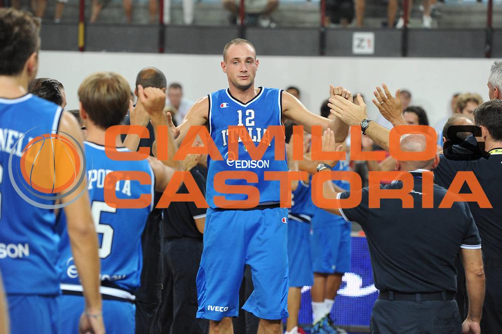 DESCRIZIONE : Rimini Trofeo Tassoni Italia Bosnia Italy Bosnia<br /> GIOCATORE : Marco Cusin<br /> CATEGORIA : Ritratto<br /> SQUADRA : Nazionale Italia Uomini <br /> EVENTO : Trofeo Tassoni<br /> GARA : Italia Bosnia<br /> DATA : 12/08/2011<br /> SPORT : Pallacanestro<br /> AUTORE : Agenzia Ciamillo-Castoria/GiulioCiamillo<br /> Galleria : Fip Nazionali 2011 <br /> Fotonotizia : Rimini Trofeo Tassoni Italia Bosnia Italy Bosnia<br /> Predefinita :