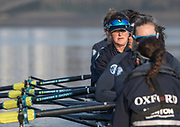 Putney, London,  Tideway Week, OUWBC. Oxford. No.<br /> 6: Chloe Laverack,  Championship Course. River Thames, <br /> <br /> Tuesday  28/03/2017<br /> [Mandatory Credit; Credit: Peter Spurrier/Intersport Images.com ]