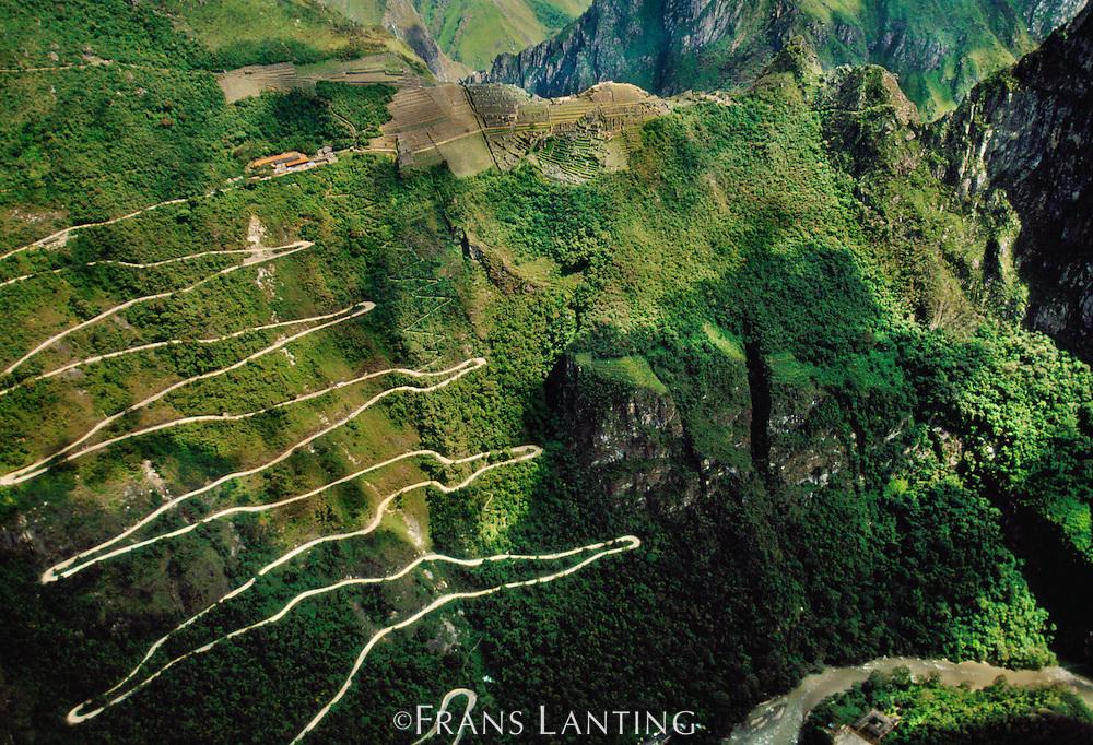 Road to Machu Pichu (aerial), Peru