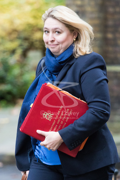 Downing Street, London, November 15th 2016.  Secretary of State for Culture, Media and Sport Karen Bradley arrives in Downing Street for the weekly cabinet meeting.