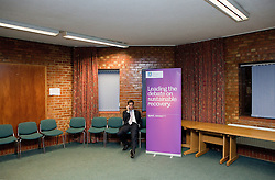 """© licensed to London News Pictures. Sheffield, UK  09/02/2012. Ed Miliband at Sheffield University shortly before he delivers a speech to students and visitors on the """"Sustainable Recovery"""". Photo credit should read Joel Goodman/LNP"""