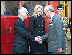 HRH Prince Charles meets Peter Hendy of Tfl and Nell McAndrew ambassadors for the Royal British Legion launch London Poppy Day to raise £1m. Photo By i-Images