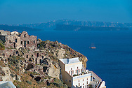 Oia on Santorini, Cyclades Islands, Greece.
