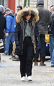 Jennifer Lopez was on the Brooklyn set of the new TV show 'Shades of blue'