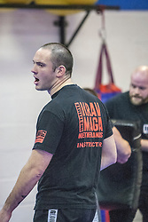 Stef Noij, KMG Instructor from the Institute Krav Maga Netherlands, takes the IKMS G Level Programme seminar today at the Scottish Martial Arts Centre, Alloa.