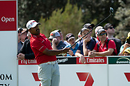 Anirban Lahiri (IND) on the second tee at Day 1 of The Emirates Australian Open Golf at The Lakes Golf Club in Sydney, Australia.