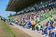 The East stand during the Vanarama National League Play Off second leg match between Forest Green Rovers and Dagenham and Redbridge at the New Lawn, Forest Green, United Kingdom on 7 May 2017. Photo by Shane Healey.