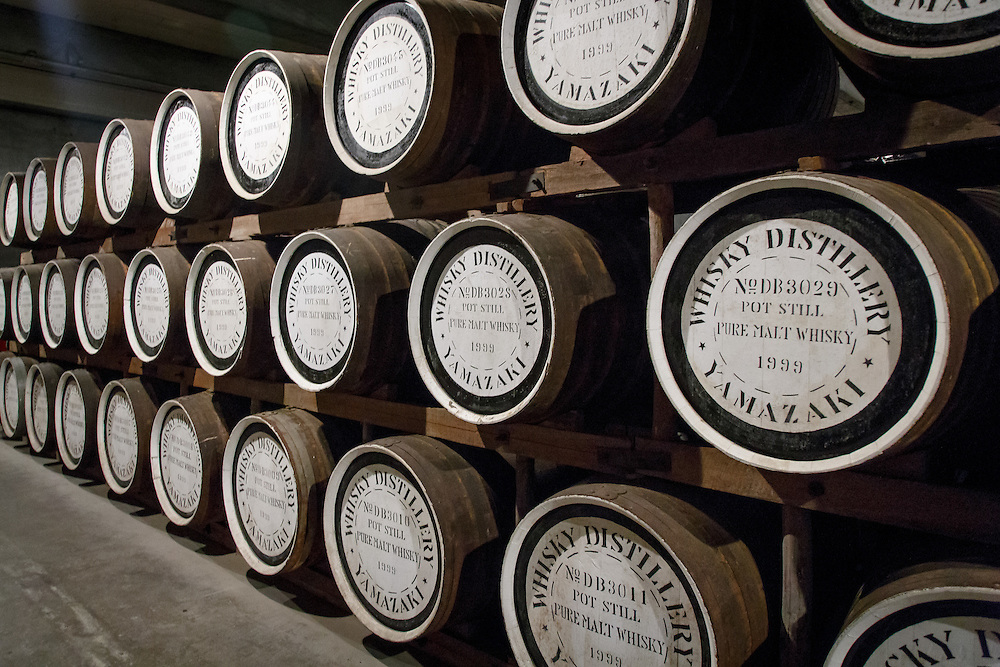 Barrels at the Yamazaki Distillery in Yamazaki, Osaka Prefecture, Japan, November 6, 2015. Gary He/DRAMBOX MEDIA LIBRARY