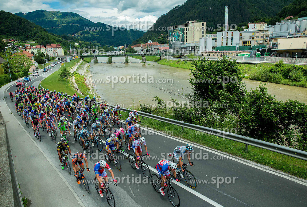 Peloton near Pivovarna Lasko during Stage 4 of 22nd Tour of Slovenia 2015 from Rogaska Slatina to Novo mesto (165,5 km) cycling race  on June 21, 2015 in Slovenia. Photo by Vid Ponikvar / Sportida