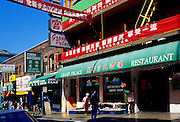 Image of a Chinatown street scene in downtown San Francisco, California, America west coast