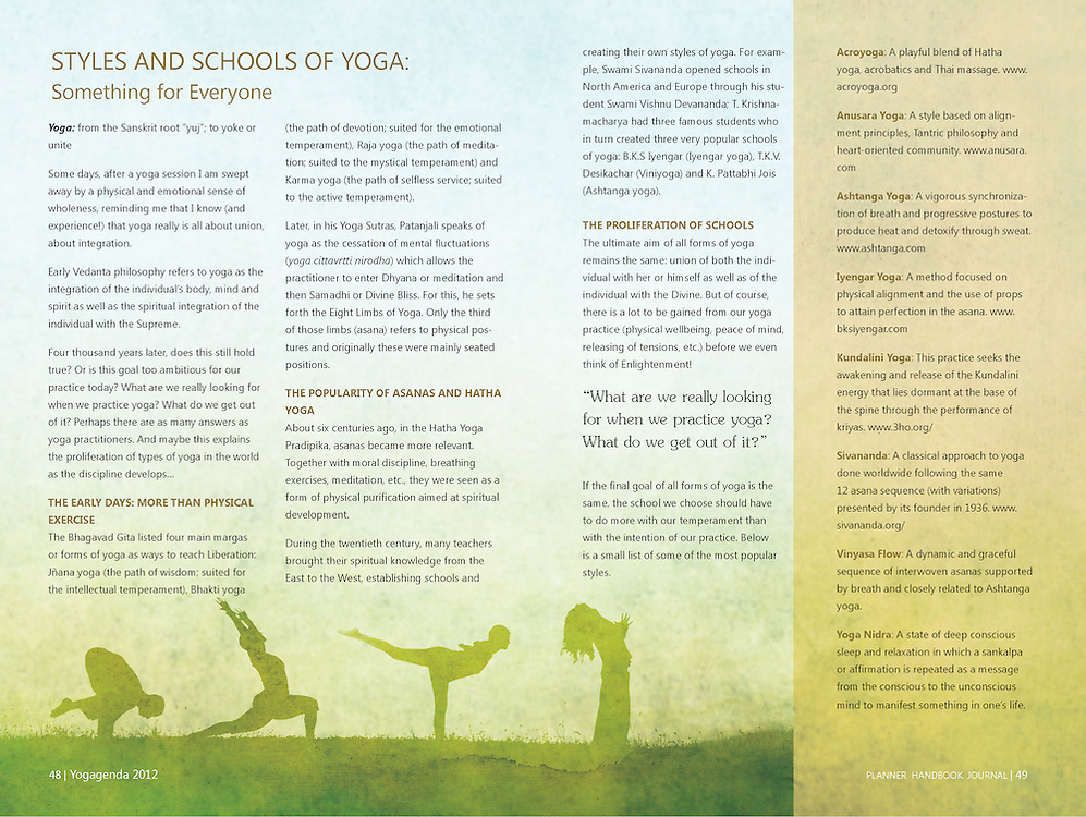 Yogagenda 2012, the planner, Handbook and Journal. The datebook datebook yogis have been waiting for!