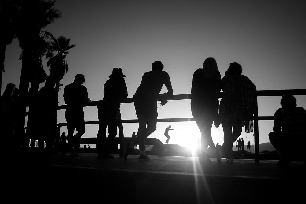 Skate park in Venice Beach, California.