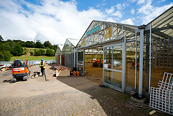 Progress update two weeks into building works at Almondsbury Garden Centre - Photo mandatory by-line: Rogan Thomson/JMP - 07966 386802 - 20/07/2015 - PR - Bristol, England - Almondsbury Garden Centre.