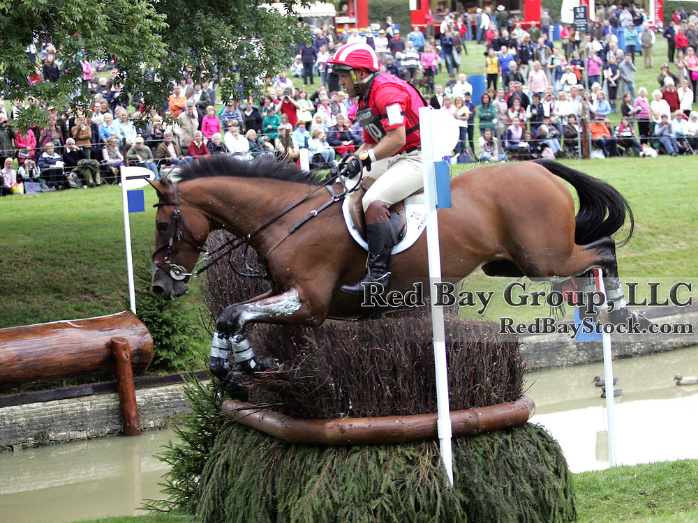 Buck Davidson (USA) and Ballynoe Castle RM at the 2011 Land Rover Burghley Horse Trials in Stamford, UK.