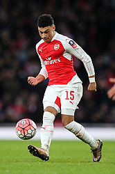 Alex Oxlade-Chamberlain of Arsenal in action - Mandatory byline: Jason Brown/JMP - 07966386802 - 09/01/2016 - FOOTBALL - Emirates Stadium - London, England - Arsenal v Sunderland - The Emirates FA Cup