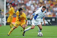 Fotball<br /> Frankrike<br /> Foto: Dppi/Digitalsport<br /> NORWAY ONLY<br /> <br /> FOOTBALL - INTERTOTO CUP 2004 - (1/2 FINAL 2ND LEG - FC NANTES v SLOVAN LIBEREC - 04/08/2004 - IVAN HODUR (LIB) / JEREMY TOULALAN (NAN)
