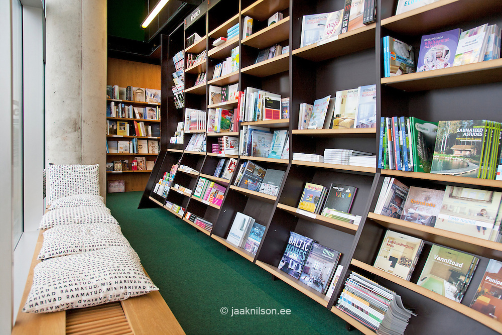 bookstore reading bench with pillows