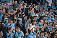 October 08, 2016: Sydney FC crowd at Round 1 of the 2016 Hyundai A-League match, between Western Sydney Wanderers and Sydney FC, played at ANZ Stadium in Sydney. Sydney FC won the game 4-0.