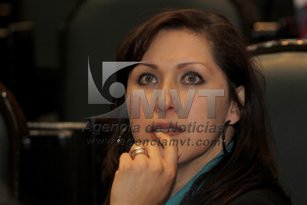 TOLUCA, México.- La diputada panista, Mónica  Fragoso Maldonado, afirmo que Barush Delgado, nuevo presidente del Tribunal Superior de Justicia del Estado de México, tiene el reto de fortalecer al nuevo sistema de justicia y devolver la credibilidad a jueces y magistrados, así como defender la autonomía al Poder Judicial. Agencia MVT / Crisanta Espinosa. (DIGITAL)