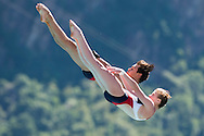 Team USA COOPER Zachary GILLILAND Tarrin gold medal<br /> Bolzano, Italy <br /> 22nd FINA Diving Grand Prix 2016 Trofeo Unipol<br /> Diving<br /> MIXED 10m synchronised platform final <br /> Day 03 17-07-2016<br /> Photo Giorgio Perottino/Deepbluemedia/Insidefoto