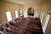 Interior Whitefield Chapel at the Bethesda School for Boys Savannah, Georgia, USA.