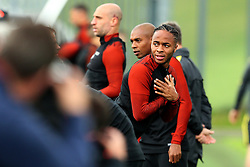 Raheem Sterling of Manchester City warms up - Mandatory by-line: Matt McNulty/JMP - 12/09/2016 - FOOTBALL - Manchester City - Training session ahead of Champions League Group C match against Borussia Monchengladbach