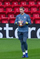 LIVERPOOL, ENGLAND - Monday, February 18, 2019: FC Bayern München's goalkeeper Manuel Neuer during a training session at Anfield ahead of the UEFA Champions League Round of 16 1st Leg match between Liverpool FC and FC Bayern München. (Pic by Paul Greenwood/Propaganda)
