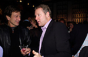 Michael Brandon and Rory Bremner, Hot Ice party hosted by Dominique Heriard Dubreuil and Theo Fennell, ( Remy Martin and theo Fennell) at 35 Belgrave Sq. London W1. 26 October 2004. ONE TIME USE ONLY - DO NOT ARCHIVE  © Copyright Photograph by Dafydd Jones 66 Stockwell Park Rd. London SW9 0DA Tel 020 7733 0108 www.dafjones.com