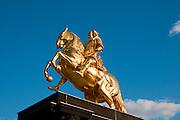 Goldener Reiter, Neustadt, Dresden, Sachsen, Deutschland.|.golden rider, Dresden Neustadt, Dresden, Germany