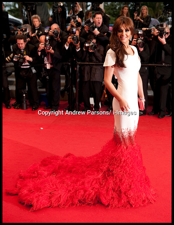 Cheryl Cole arrives on the Red Carpet for the Premiere of Amour during the 65th Annual Cannes Film Festival at Palais des Festivals, Cannes, France, Sunday May 20, 2012. Photo by Andrew Parsons/i-Images.