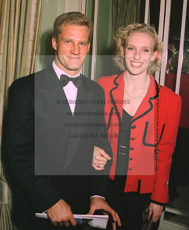 MR & MRS MICHAEL LYNAGH, he is the Australian rugby world record breaking kicker, at a dinner in London on 29th October 1997.MCP 19