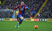Jordon Mutch chases the loose ball during the Barclays Premier League match between Crystal Palace and Watford at Selhurst Park, London, England on 13 February 2016. Photo by Michael Hulf.
