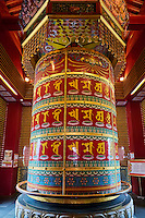 Singapour, Chinatown, Buddha Tooth Relic Buddhist temple, moulin à priere // Singapore, Chinatown, Buddha Tooth Relic Buddhist temple, praying wheel