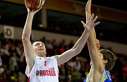 Vitaliy Fridzon of Russia during basketball match between National teams of Russia and Ukraine in Group D of Preliminary Round of Eurobasket Lithuania 2011, on August 31, 2011, in Arena Svyturio, Klaipeda, Lithuania. (Photo by Vid Ponikvar / Sportida)
